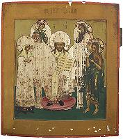 Religious Russian icon  Deesis